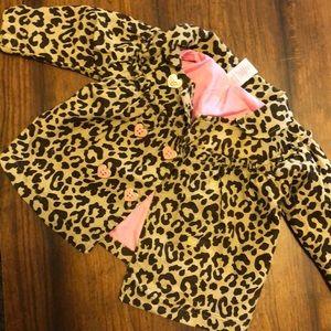 12m girls cheetah jacket